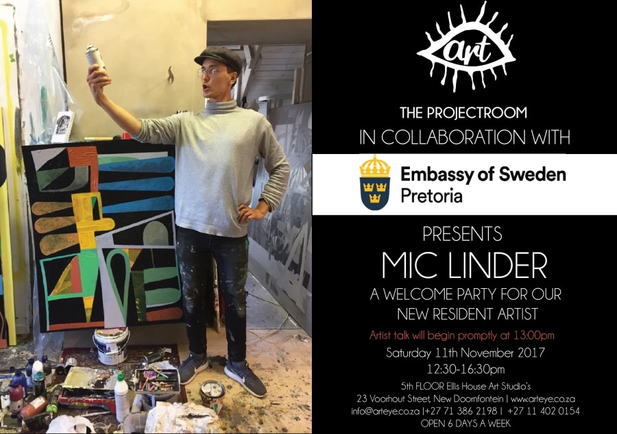 Welcome party for resident artist for Mic Linder