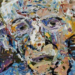Michele Silk - Oil on canvas board