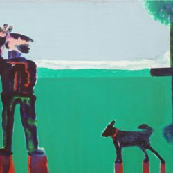 Robert Hodgins - A day at the Park - Oil on canvas