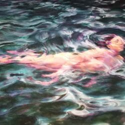 Sarah Ballam - Swimmer - Oil on Canvas
