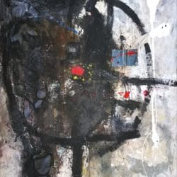 Thokozani Mthiyane - Mixed Media on Canvas