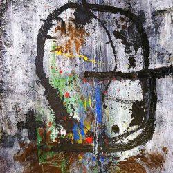 Thokozani Mthiyane - Mixed Media on Canvas