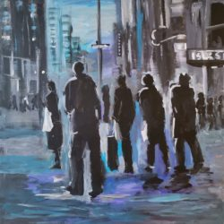 Dominic Tshabangu - Blue City Series - Out for the day - 2018