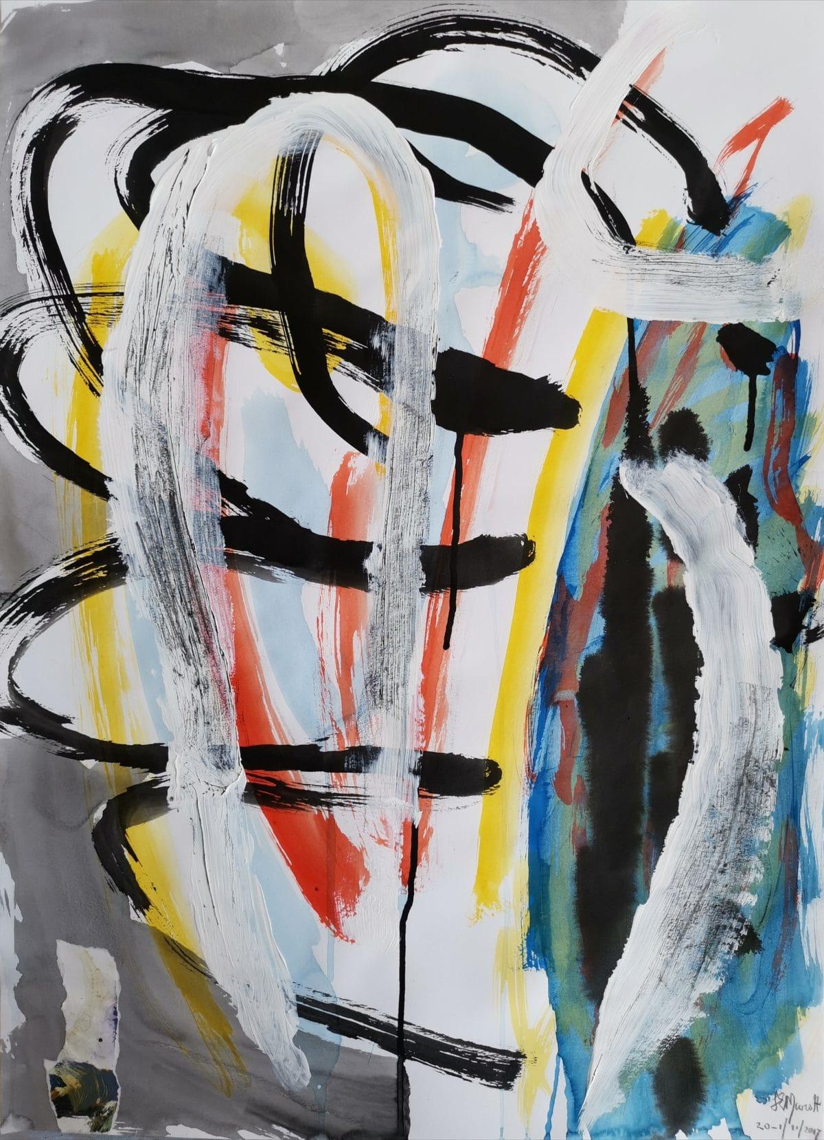 Lionel Murcott - Mixed Media on Fabriano 70 x 50 cm