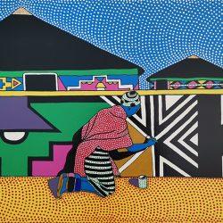 Sibusiso Duma - Acrylic on Stretched Canvas - 2018