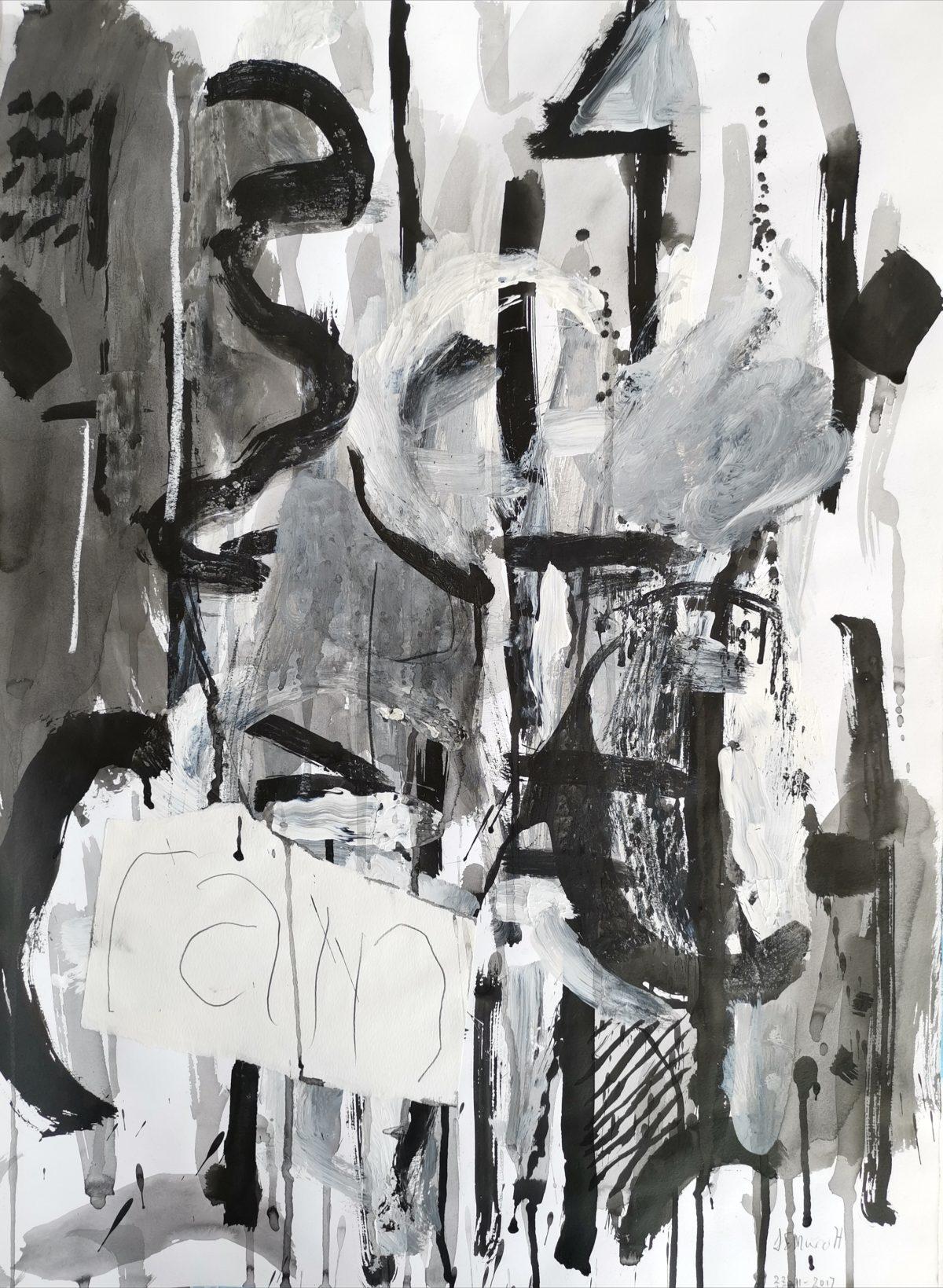 Lionel Murcott - Mixed Media on Fabriano - 70 x 50 cm