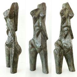 Ezrom Legae - Abstract Female Figure - Bronze Sculpture