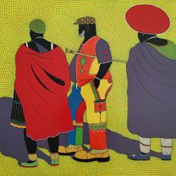 Sibusiso Duma - Acrylic on Canvas - 2018