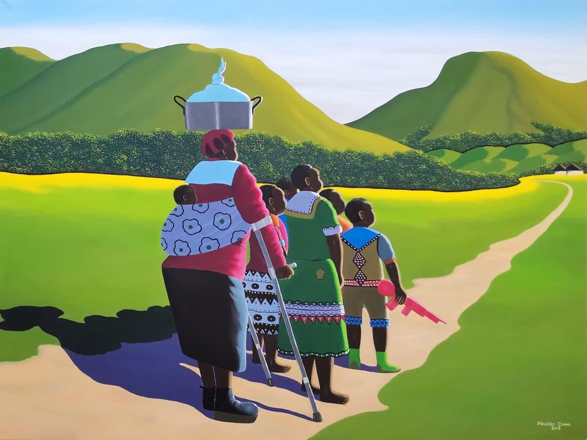 Sibusiso Duma - Oil on Stretched Canvas - 2018