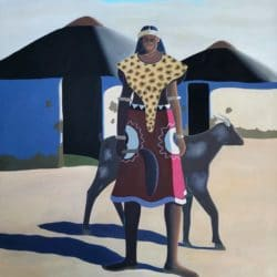 Sibusiso Duma - The Chief - Oil on Canvas - 2015