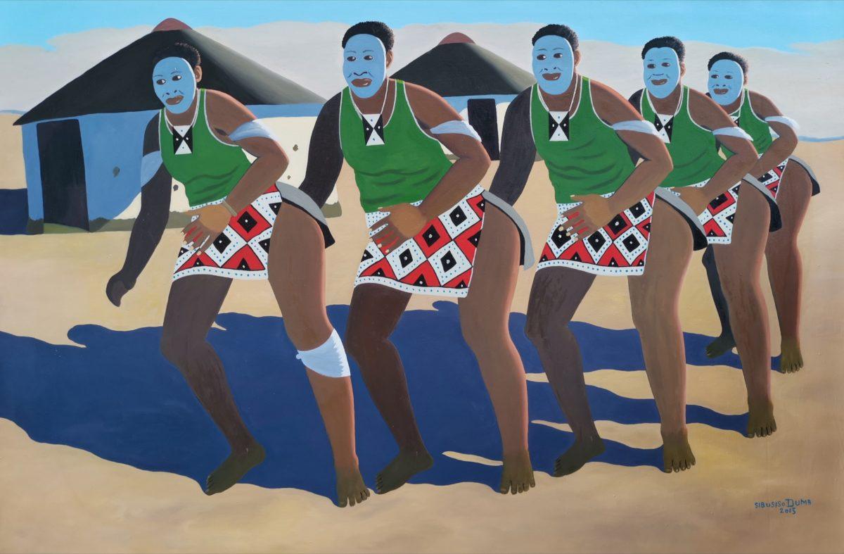 Sibusiso Duma - Traditional Dance - Oil on Canvas - 2015