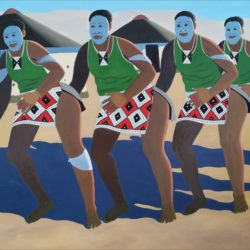 Sibusiso Duma - Traditional Dance - Oil on Canvas - 2015