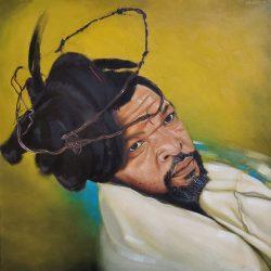 Mfundo Mthiyane - Malume - Oil on Canvas