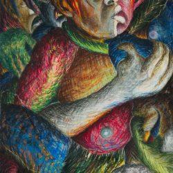 Helen Sebidi - Untitled II - Mixed Media and Collage
