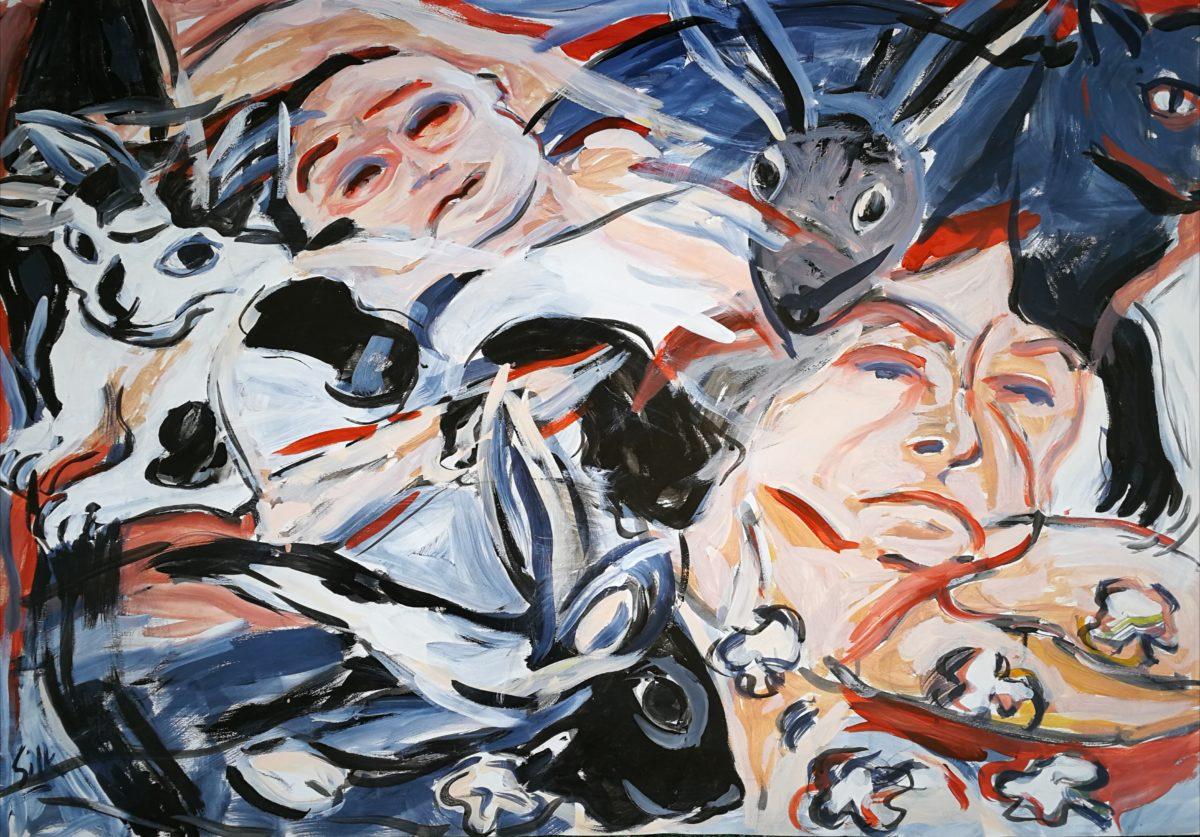 Michele Silk - Acrylic on Fabriano - 2015