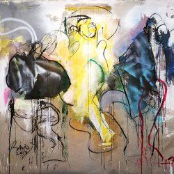 Toni Bico - Mixed Media, Spray on Belgium Linen - 2017