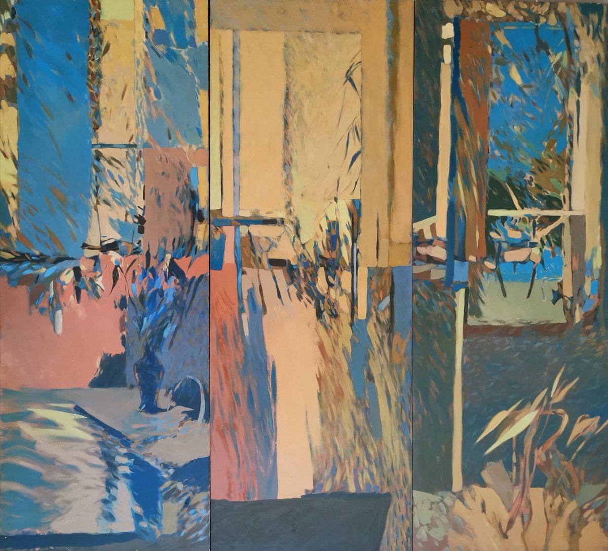 Andrew Verster - 3 panel door painting - circa 1980's