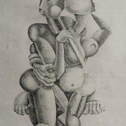 Johannes Phokela - Graphite on Paper - 1984