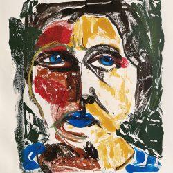 Terri Broll - Monoprint on Paper - 2016