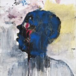 Thokozani Mthiyane - Oil and Mixed Media on Fabriano - 2019