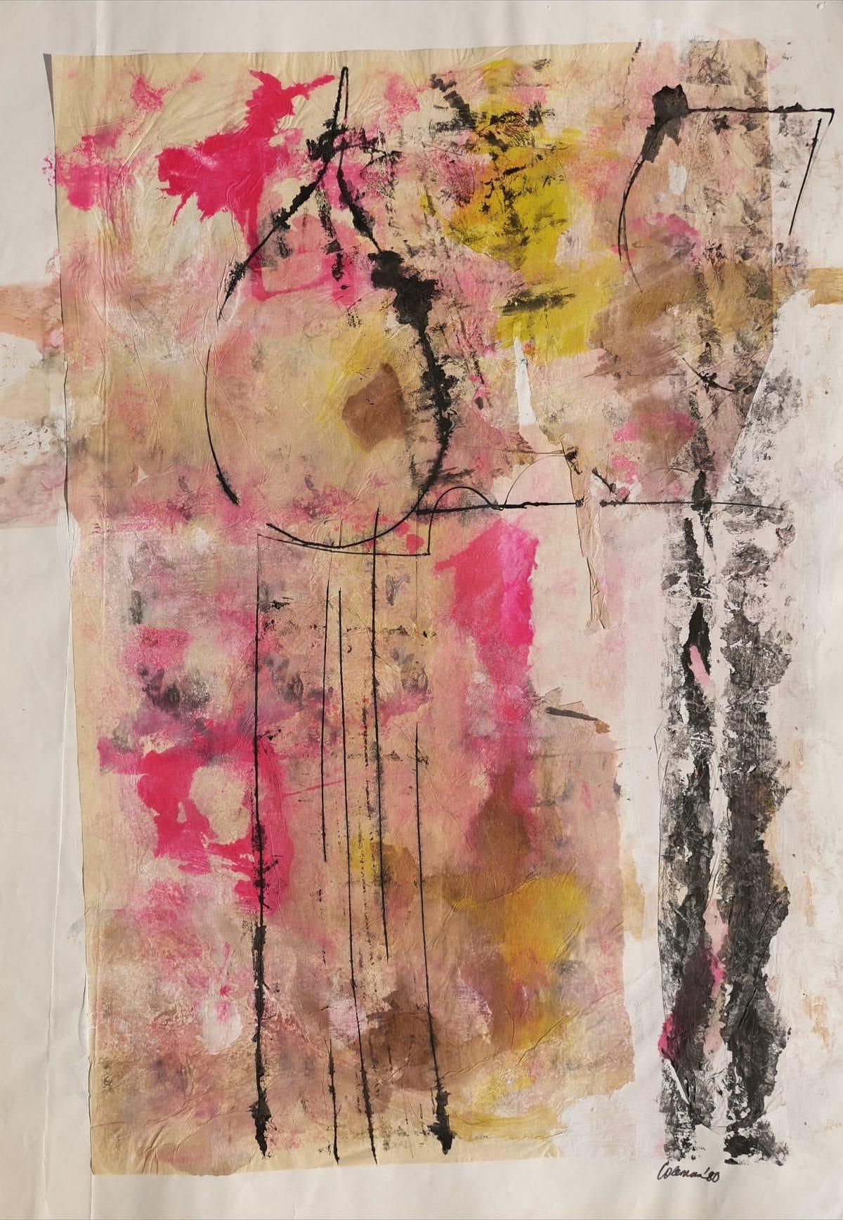 Trevor Coleman - Tissue Paper Collage - 1980