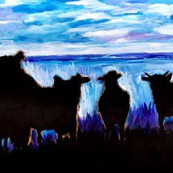 Dominic Tshabangu - Morning on the Farm - 2019