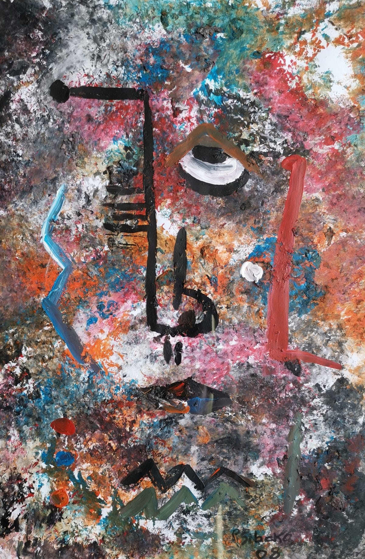 Peter Sibeko - Oil and Mixed Media on Fabriano - 2008