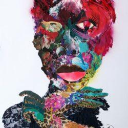 Phumzile Buthelezi - Mixed Media and Stitching on Fabriano