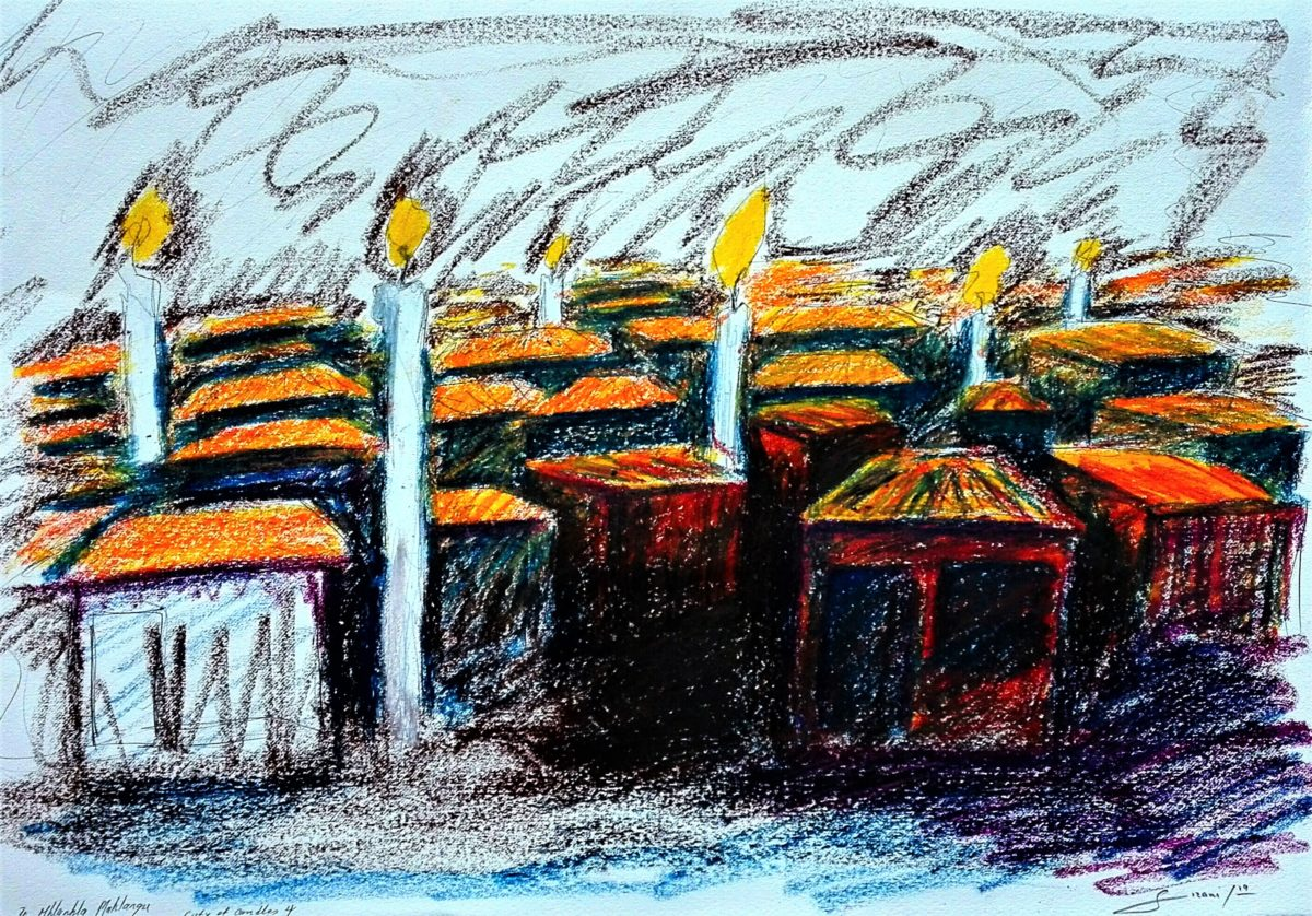 ity of candles 4 pastel on fabriano paper 35 x 50cm