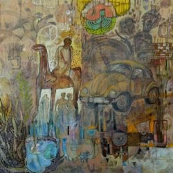 Hussein Salim - Mixed Media on Canvas