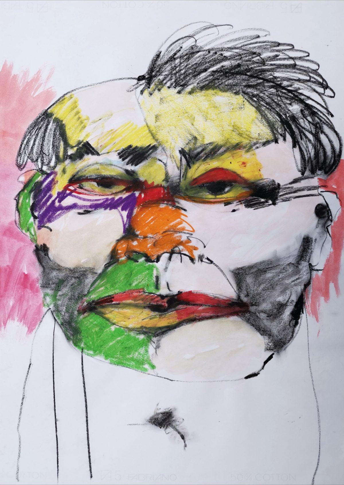 Terri Broll - Studio Sketch - Layers of Lament