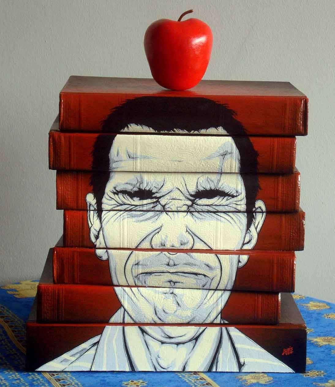 Louis Van Den Heever - Book Sculpture