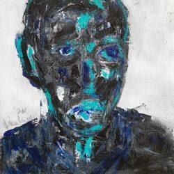 Thokozani Mthiyane - Blue People Series